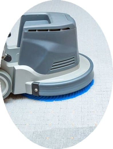Buffer machine on a clean carpet.